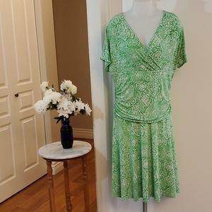 Marallis Green fit flare dress L/XL